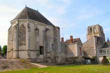 Cormery (Indre et Loire): ruines de l'abbaye
