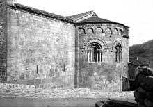 Corneilla de Conflent: l'église sainte Marie. L'abside