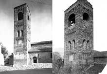 Corneilla de Conflent: l'église sainte Marie. Le clocher