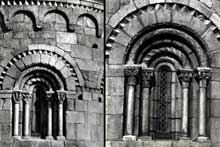 Corneilla de Conflent: l'église sainte Marie. Fenêtres de l'abside
