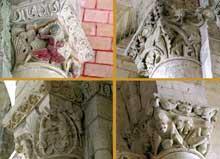 Cunault (Maine et Loire): l'église Notre Dame. Chapiteaux