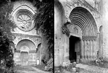 Digne: Portail occidental de Notre Dame du Bourg, ancienne cathédrale, Xllle s