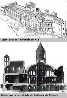 Abbatiale sainte Bénigne de Dijon: restitution de l'abbatiale et de la rotonde de Guillaume de Volpiano