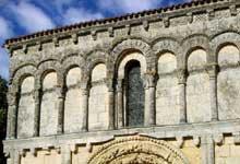 Echillais (Charente Maritime): église Sainte Marie. La façade, registre supérieur