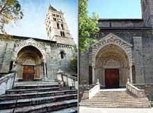 Embrun: ancienne cathédrale Notre Dame du Réal. Porche nord du Real