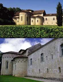 Flaran (Gers): abbaye cistercienne. Le chevet de l'abbatiale
