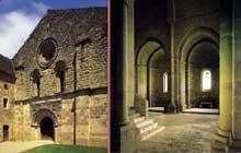 Flaran (Gers): abbaye cistercienne. L'abbatiale