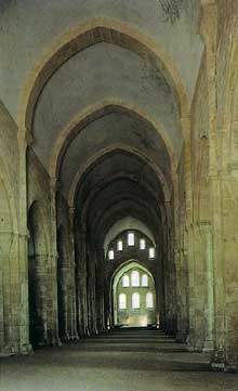 Fontenay en Côte d'Or: l'abbaye cistercienne: la nef de l'abbatiale