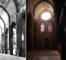 L'abbaye de Fontfroide: la nef de l'abbatiale