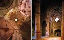 L'abbaye de Fontfroide: croisée et transept de l'abbatiale