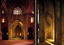 L'abbaye de Fontfroide: chœur et collatéral nord de l'abbatiale