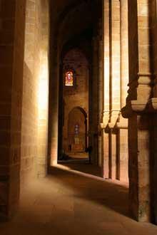 L'abbaye de Fontfroide: le collatéral nord de l'abbatiale