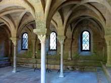 L'abbaye de Fontfroide: la salle capitulaire