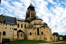 L'abbaye de Fontevrault: le chevet de l'abbatiale