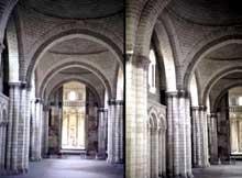 L'abbaye de Fontevrault: la nef de l'abbatiale