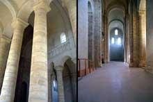 L'abbaye de Fontevrault: croisée et bas-côté