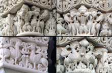 L'abbaye de Fontevrault: chapiteaux de la nef