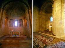 Ganagobie (Basses Alpes): le prieuré bénédictin. Chœur et absidiole