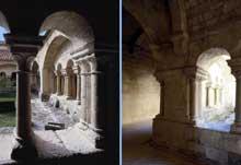 Ganagobie (Basses Alpes): le prieuré bénédictin. Le cloître