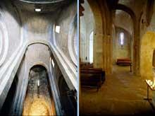 La Garde Adhémar (Drôme): église saint Michel. La nef et le bas-côté