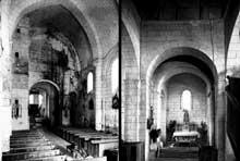 Geay (Charente Maritime): Prieuré  Notre Dame de l'Assomption. Nef et croisillon sud.