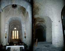 Gigny (Jura): ancienne église abbatiale saint Taurin. Nef et bas côté