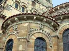 Issoire (Puy du Dôme), saint Austremoine: absidiole du chevet