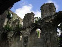 Jumièges (Seine Maritime): abbatiale Notre Dame. Elévation du transept