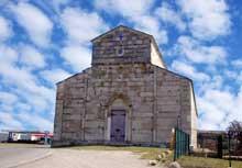 Lucciana (Corse): cathédrale de La Canonica. Vue générale