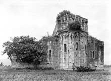Lucciana (Corse): cathédrale de La Canonica avant restauration