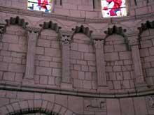 La Charité sur Loire, église abbatiale Notre Dame: le chœur, détail