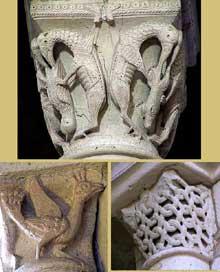 La Charité sur Loire, église abbatiale Notre Dame: chapiteaux de la nef