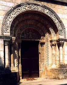 La Lande De Fronsac (Gironde): portail de l'Eglise