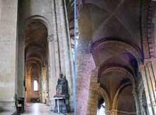 Le Mans, abbaye Notre Dame de la Couture. Le déambulatoire