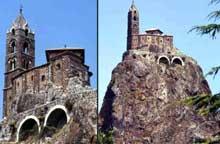 Le Puy en Velay. Saint Michel d'Aiguilhe, vue générale