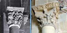 Lescar (Pyrénées Atlantiques): la «cathédrale» Notre Dame. Chapiteaux