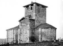 Lescure (Tarn): église saint Michel. Vue générale
