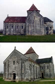 Lichères (Charente): l'église saint Denis