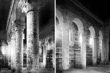 Lichères (Charente): l'église saint Denis. Les bas côtés et la nef