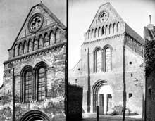 Lillers (Pas de Calais)�: coll�giale saint Omer. Fa�ade occidentale