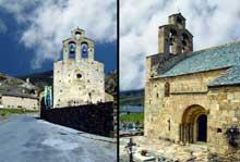 Llo (Pyrénées Atlantiques): église saint Fructueux. Façade occidentale et coté sud