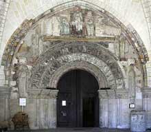 Loches (Indre et Loire): Saint Ours, ancienne collégiale Notre-Dame. Le portail