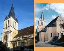 Lons le Saunier (Jura): église saint Désiré