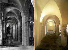 Lons le Saunier (Jura): église saint Désiré. Collatéral nord et crypte