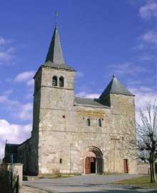 Marsal (Moselle): collégiale saint Léger. La façade occidentale