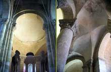 Melle (Deux Sèvres): l'église saint Hilaire. Chœur et déambulatoire.