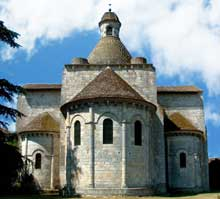 Moirax (Lot et Garonne): prieuré Notre Dame. Le chevet