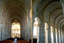 Moirax (Lot et Garonne): prieuré Notre Dame. La nef, son élévation et sa voûte appareillée