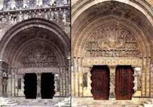 Moissac, abbaye saint Pierre: le portail du porche sud. Vue d'ensemble