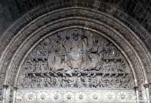 Moissac, abbaye saint Pierre: le portail du porche sud. Le tympan